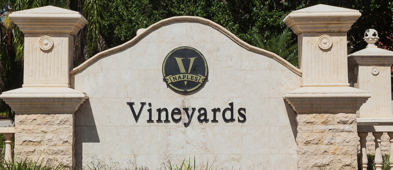 Vineyards equity golf real estate in Naples, Florida