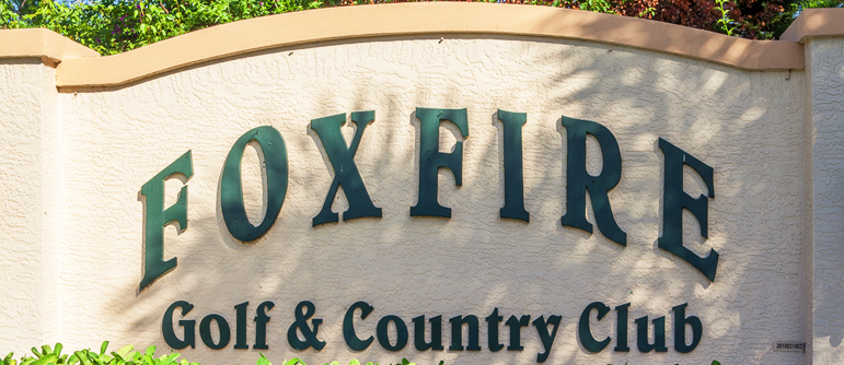 Foxfire golf real estate in Naples, Florida