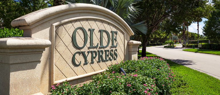 Olde Cypress equity golf real estate in Naples, Florida