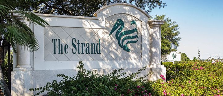 The Strand equity golf real estate in Naples, Florida